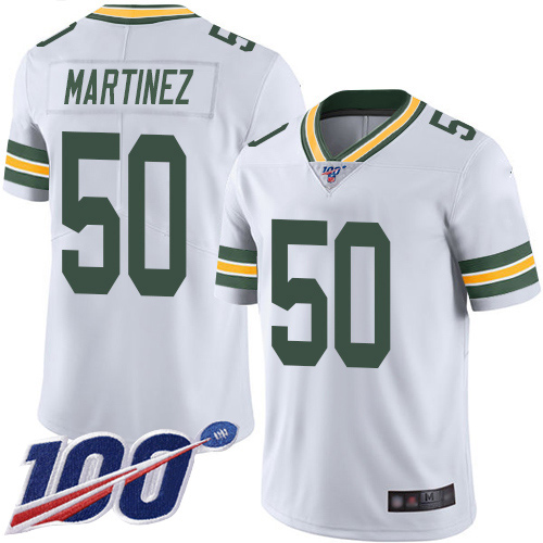 Green Bay Packers Limited White Men 50 Martinez Blake Road Jersey Nike NFL 100th Season Vapor Untouchable