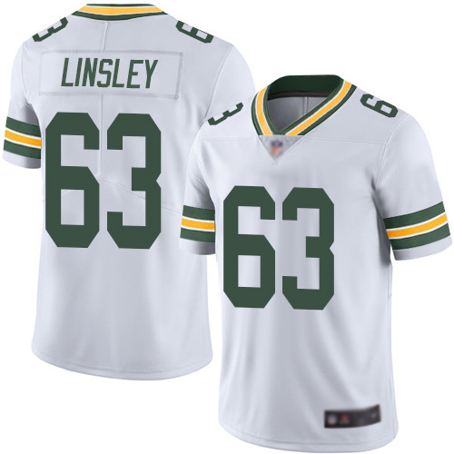 Green Bay Packers Limited White Men 63 Linsley Corey Road Jersey Nike NFL Vapor Untouchable