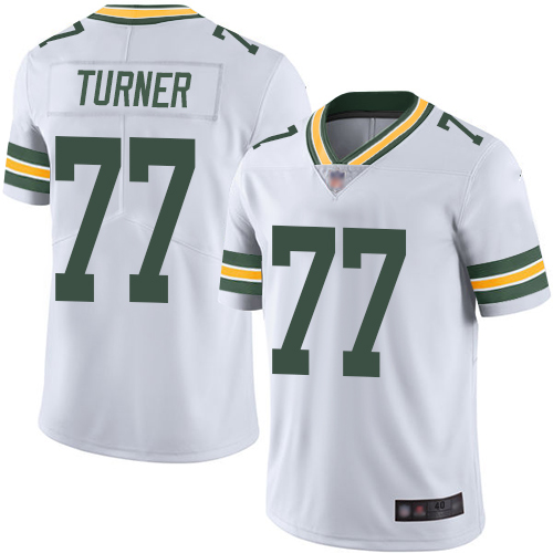 Green Bay Packers Limited White Men 77 Turner Billy Road Jersey Nike NFL Vapor Untouchable