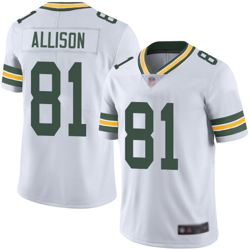 Green Bay Packers Limited White Men 81 Allison Geronimo Road Jersey Nike NFL Vapor Untouchable