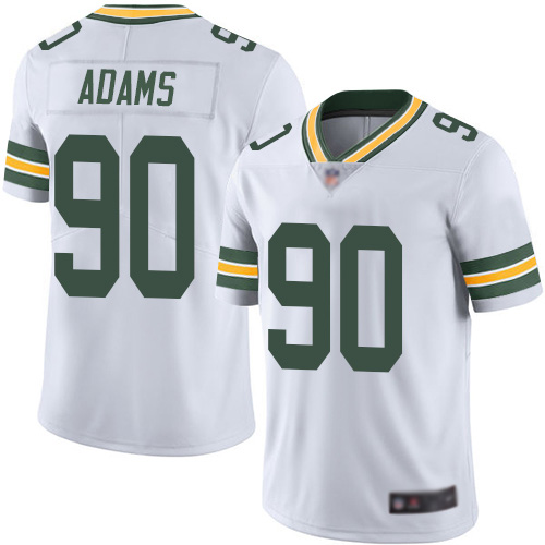 Green Bay Packers Limited White Men 90 Adams Montravius Road Jersey Nike NFL Vapor Untouchable