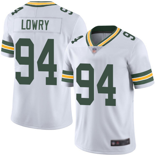 Green Bay Packers Limited White Men 94 Lowry Dean Road Jersey Nike NFL Vapor Untouchable