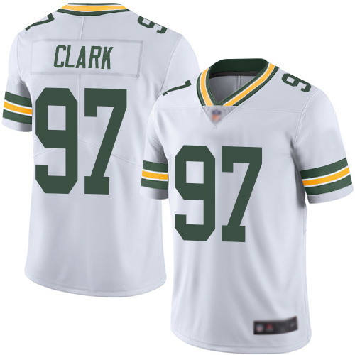 Green Bay Packers Limited White Men 97 Clark Kenny Road Jersey Nike NFL Vapor Untouchable