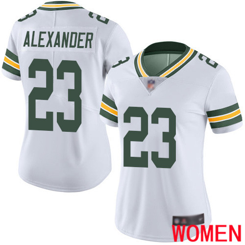 Green Bay Packers Limited White Women 23 Alexander Jaire Road Jersey Nike NFL Vapor Untouchable