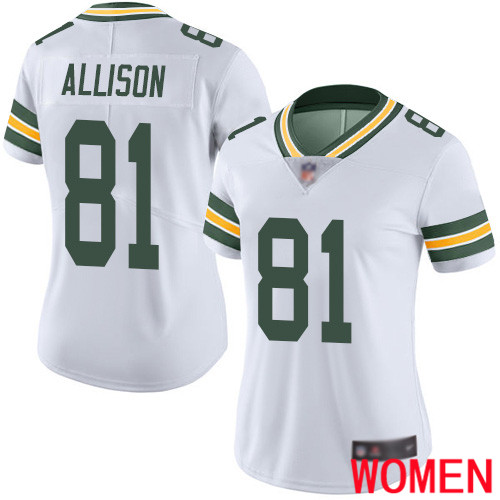 Green Bay Packers Limited White Women 81 Allison Geronimo Road Jersey Nike NFL Vapor Untouchable