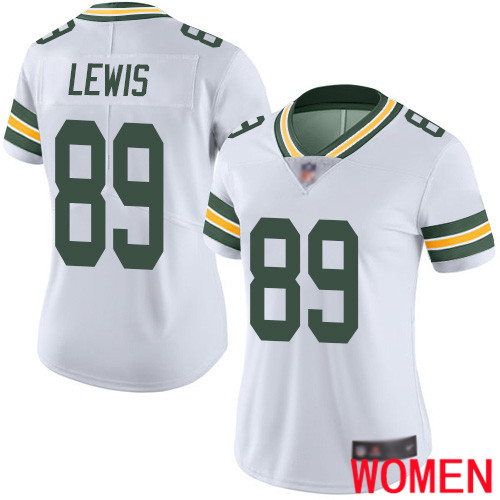 Green Bay Packers Limited White Women 89 Lewis Marcedes Road Jersey Nike NFL Vapor Untouchable