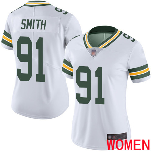 Green Bay Packers Limited White Women 91 Smith Preston Road Jersey Nike NFL Vapor Untouchable