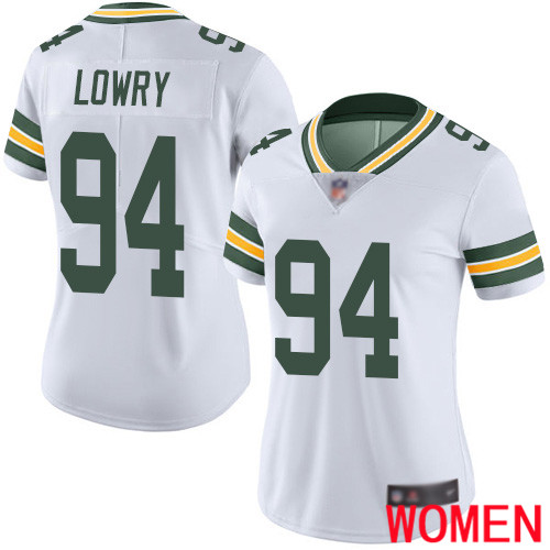 Green Bay Packers Limited White Women 94 Lowry Dean Road Jersey Nike NFL Vapor Untouchable