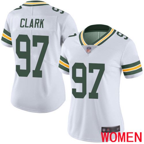 Green Bay Packers Limited White Women 97 Clark Kenny Road Jersey Nike NFL Vapor Untouchable