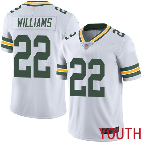 Green Bay Packers Limited White Youth 22 Williams Dexter Road Jersey Nike NFL Vapor Untouchable