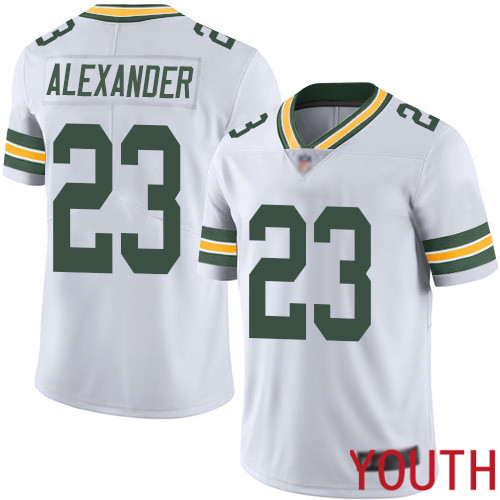 Green Bay Packers Limited White Youth 23 Alexander Jaire Road Jersey Nike NFL Vapor Untouchable