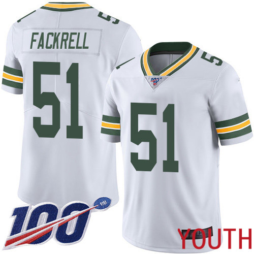 Green Bay Packers Limited White Youth 51 Fackrell Kyler Road Jersey Nike NFL 100th Season Vapor Untouchable