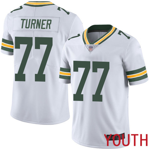 Green Bay Packers Limited White Youth 77 Turner Billy Road Jersey Nike NFL Vapor Untouchable