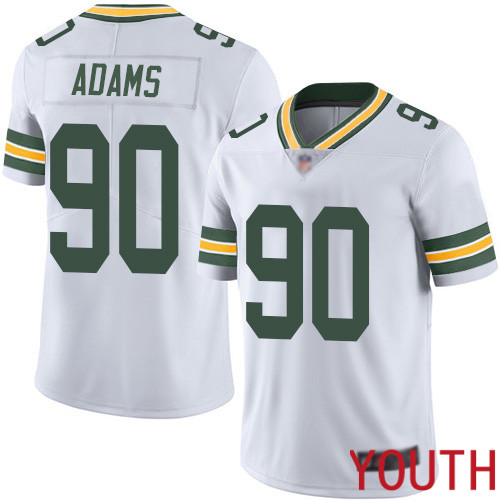 Green Bay Packers Limited White Youth 90 Adams Montravius Road Jersey Nike NFL Vapor Untouchable