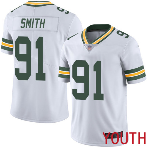 Green Bay Packers Limited White Youth 91 Smith Preston Road Jersey Nike NFL Vapor Untouchable