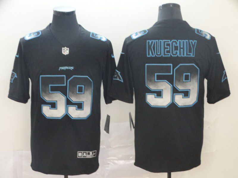 Men Carolina Panthers 59 Kuechly Nike Black Smoke Fashion Limited NFL Jerseys