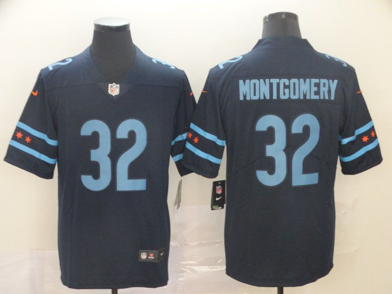 Men Chicago Bears 32 Montgomery Black Nike Limited city edition NFL Jersey