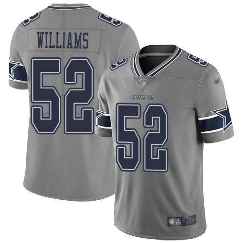 Men Dallas Cowboys Limited Gray Connor Williams 52 Inverted Legend NFL Jersey