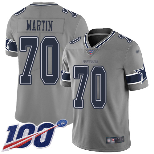 Wholesale Men Dallas Cowboys Limited Gray Zack Martin 70 100th Season Inverted Legend NFL Jersey