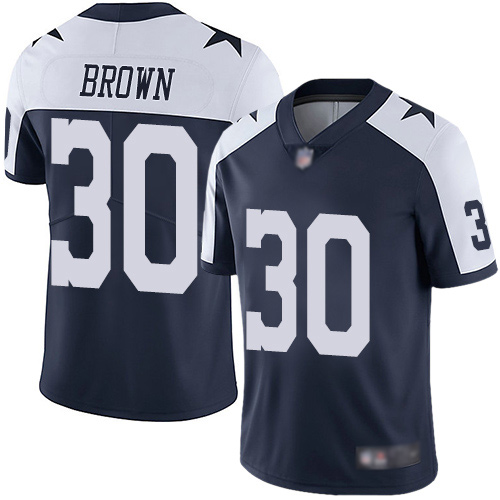 Men Dallas Cowboys Limited Navy Blue Anthony Brown Alternate 30 Vapor Untouchable Throwback NFL Jersey