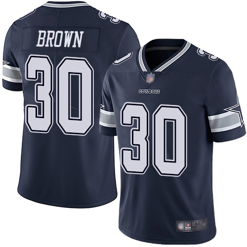 Men Dallas Cowboys Limited Navy Blue Anthony Brown Home 30 Vapor Untouchable NFL Jersey