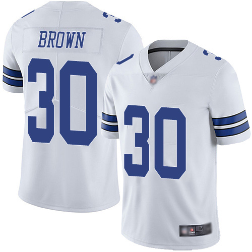 Men Dallas Cowboys Limited White Anthony Brown Road 30 Vapor Untouchable NFL Jersey
