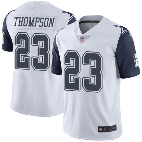 Men Dallas Cowboys Limited White Darian Thompson 23 Rush Vapor Untouchable NFL Jersey