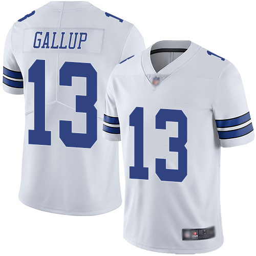 Men Dallas Cowboys Limited White Michael Gallup Road 13 Vapor Untouchable NFL Jersey
