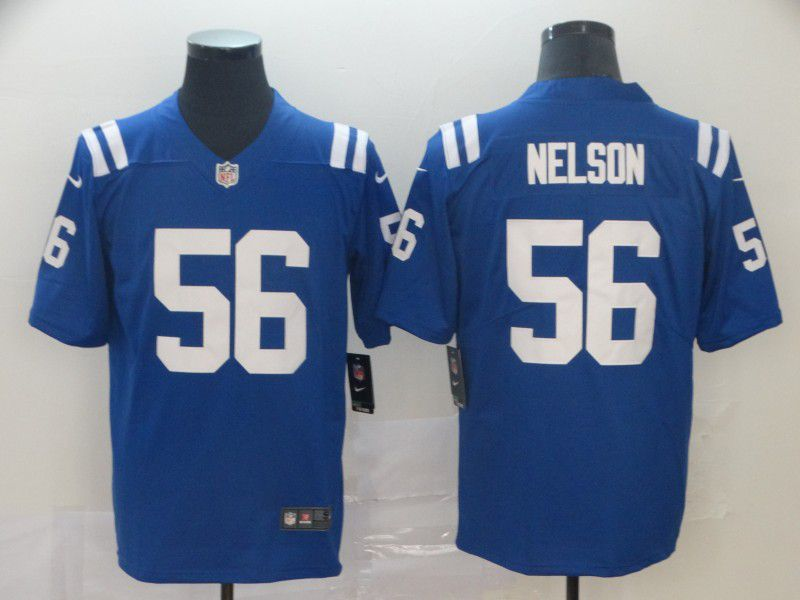 Men Indianapolis Colts 56 Nelson Blue Nike Vapor Untouchable Limited NFL Jersey