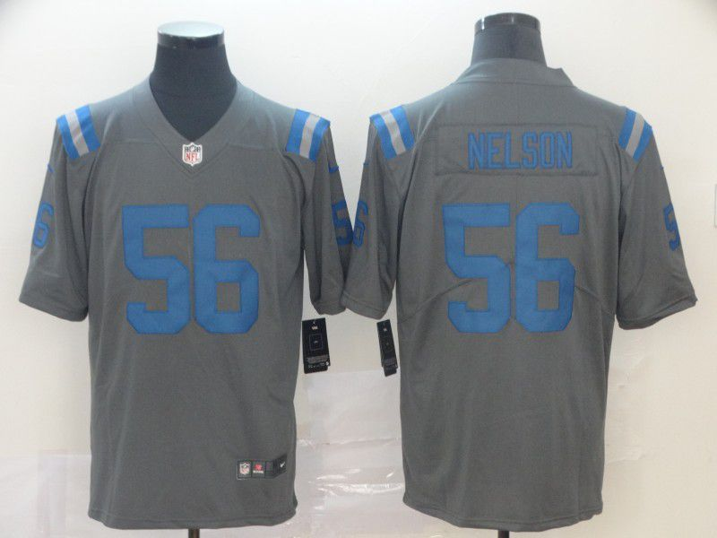 Men Indianapolis Colts 56 Nelson Grey Nike Limited city edition NFL Jersey
