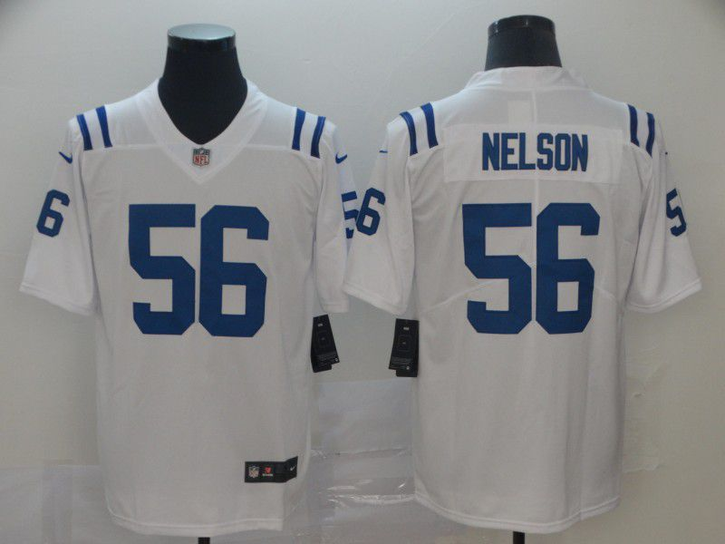 Men Indianapolis Colts 56 Nelson White Nike Vapor Untouchable Limited NFL Jersey