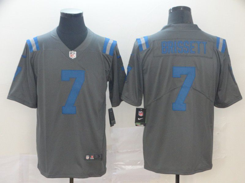 Men Indianapolis Colts 7 Brissett Grey Nike Limited city edition NFL Jersey