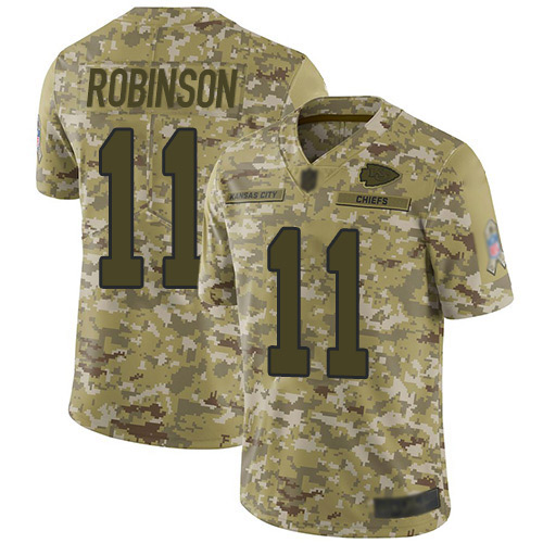 Men Kansas City Chiefs 11 Robinson Demarcus Limited Camo 2018 Salute to Service Football Nike NFL Jersey