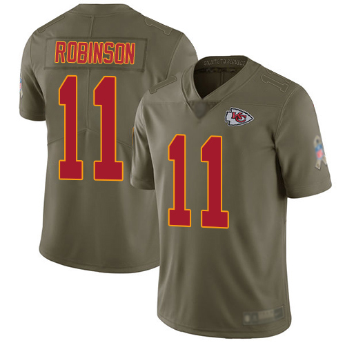 Men Kansas City Chiefs 11 Robinson Demarcus Limited Olive 2017 Salute to Service Football Nike NFL Jersey