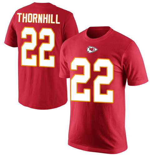 Men Kansas City Chiefs 22 Thornhill Juan Red Rush Pride Name and Number T-Shirt