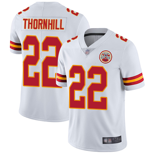 Men Kansas City Chiefs 22 Thornhill Juan White Vapor Untouchable Limited Player Football Nike NFL Jersey