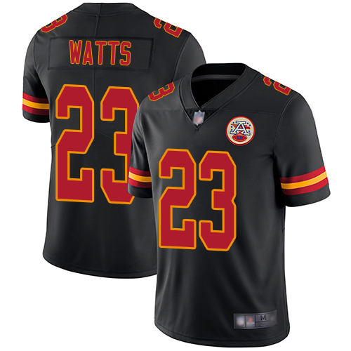 Men Kansas City Chiefs 23 Watts Armani Limited Black Rush Vapor Untouchable Football Nike NFL Jersey