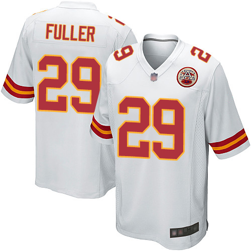 Men Kansas City Chiefs 29 Fuller Kendall Game White Football Nike NFL Jersey