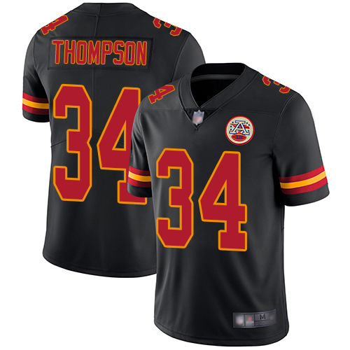 Men Kansas City Chiefs 34 Thompson Darwin Limited Black Rush Vapor Untouchable Football Nike NFL Jersey