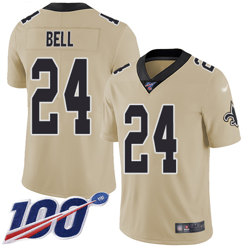Men New Orleans Saints Limited Gold Vonn Bell Jersey NFL Football 24 100th Season Inverted Legend Jersey