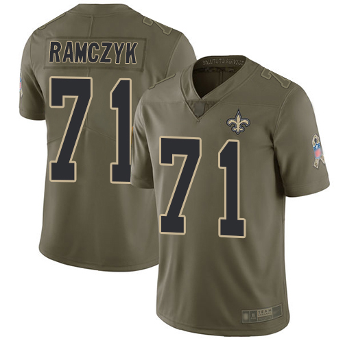 Men New Orleans Saints Limited Olive Ryan Ramczyk Jersey NFL Football 71 2017 Salute to Service Jersey