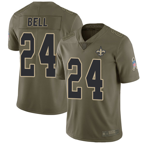 Men New Orleans Saints Limited Olive Vonn Bell Jersey NFL Football 24 2017 Salute to Service Jersey