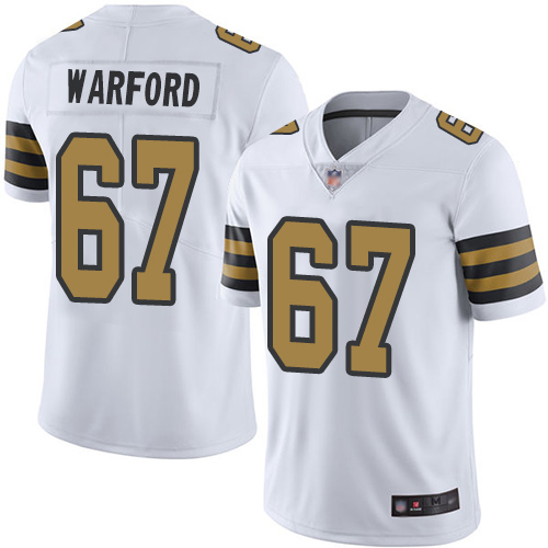 Men New Orleans Saints Limited White Larry Warford Jersey NFL Football 67 Rush Vapor Untouchable Jersey
