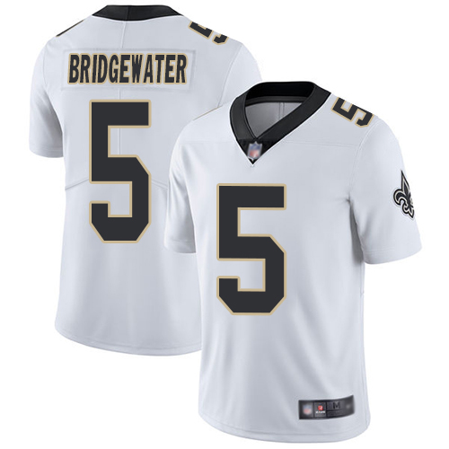 Men New Orleans Saints Limited White Teddy Bridgewater Road Jersey NFL Football 5 Vapor Untouchable Jersey