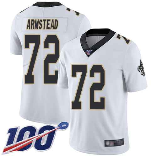 Men New Orleans Saints Limited White Terron Armstead Road Jersey NFL Football 72 100th Season Vapor Untouchable Jersey