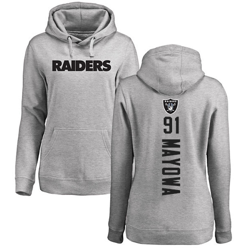 Men Oakland Raiders Ash Benson Mayowa Backer NFL Football 91 Pullover Hoodie Sweatshirts
