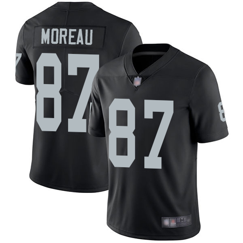 Men Oakland Raiders Limited Black Foster Moreau Home Jersey NFL Football 87 Vapor Untouchable Jersey