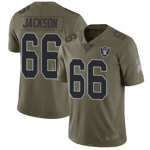 Men Oakland Raiders Limited Olive Gabe Jackson Jersey NFL Football 66 2017 Salute to Service Jersey