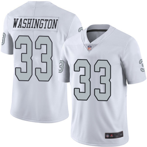 Wholesale Men Oakland Raiders Limited White DeAndre Washington Jersey NFL Football 33 Rush Vapor Jersey