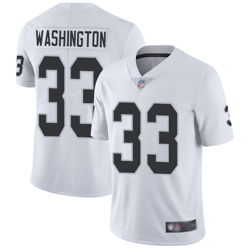 Wholesale Men Oakland Raiders Limited White DeAndre Washington Road Jersey NFL Football 33 Vapor Jersey